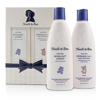 Noodle & Boo pasgeboren cadeauset: Pasgeboren 2-in-1 haar & Body Wash 237ml / 8oz + Super zachte Lotion - voor gezicht & lichaam 237ml / 8oz 2pc