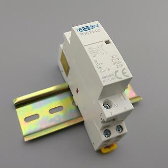 2p 25a 220v/230v 50/60hz Din Rail Household Ac Modular Contactor  2no