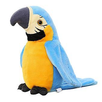 Elektrische Talking Parrot Pluche Speelgoed Cute Speaking Record herhaalt zwaaiende vleugels