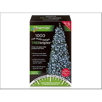 Premier Decorations Multi-Action Tree Bright 1000LED 8H White LV162179W