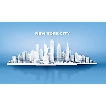 Valokuvaseinämaalaus New Yorkin kaupungin pilvenpiirtäjät