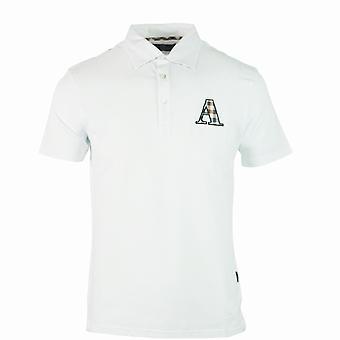 Aquascutum Brand A Logo Biała koszulka polo