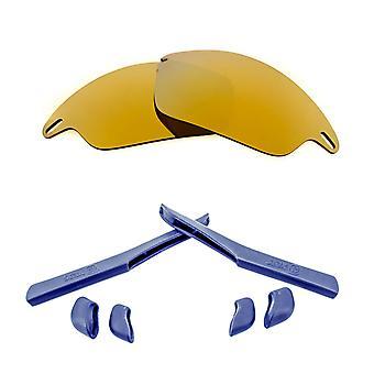 استبدال العدسات كيت ل Oakley سريع سترة الذهب مرآة البحرية الزرقاء المضادة للخدش المضادة للوهج UV400 من قبل SeekOptics