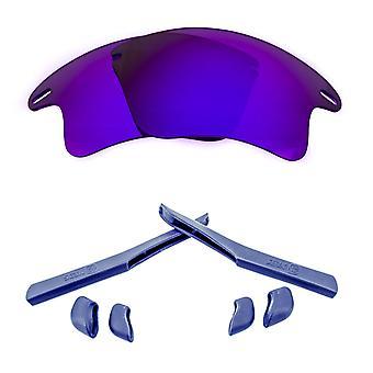 Polarized Replacement Lenses Kit for Oakley Fast Jacket XL Purple Navy Blue Anti-Scratch Anti-Glare UV400 by SeekOptics