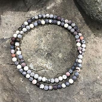 Bracciale mini perline Jasper in porcellana