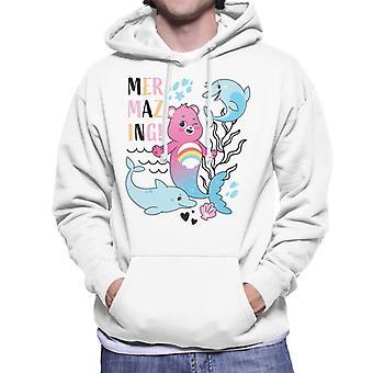 Care Bears Desbloquear The Magic Cheer Bear Mermazing Men's Hooded Sweatshirt