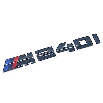 Gloss Black BMW M240i Letters Rear Boot Lid Trunk Badge Emblem For 2 Series F22 F45 F46 170mm x 20mm