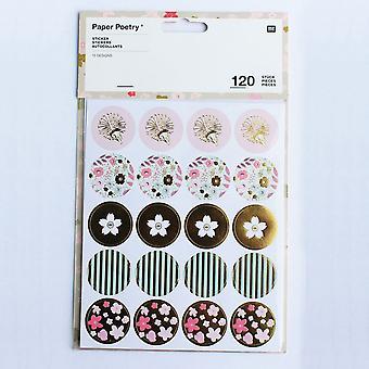 Assorterede Sticker Pack Floral guld forpurrede Sitckers 120 klistermærker - håndværk