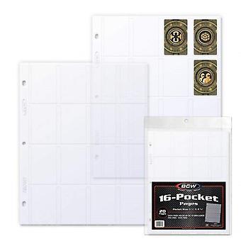 BCW لعبة بطاقة أمريكية مصغرة 16 صفحات الجيب أعلى تحميل (20 & apos;s)