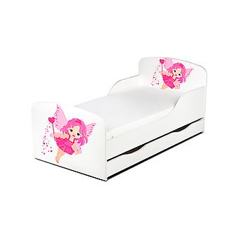 PriceRightHome Fairy Dust Toddler Bed with Underbed Storage plus Fibre