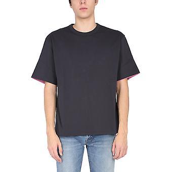 T-shirt in cotone grigio da uomo Bmaa003f20jer0010730