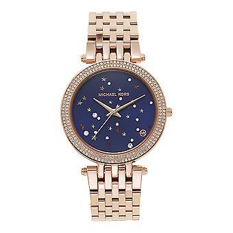 Michael Kors Mk3728 Darci Rose Gold & Purple Ladies Watch