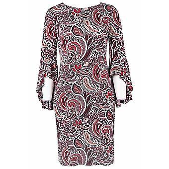 Strukturierte Paisley Tag Kleid