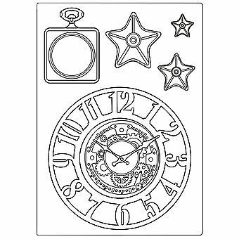 Stamperia Sekamedia home A5 Sir Vagabond kellot ja tähdet