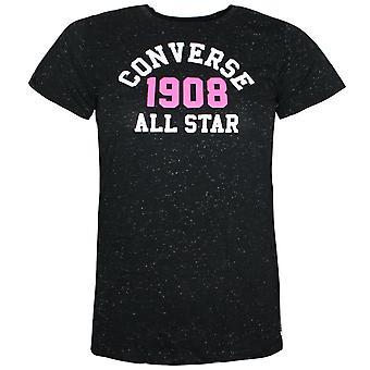 Converse Junior Girls 1908 All Star Knit Tunic Tee Black T-Shirt 466841 023