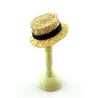 Melodie Jane Puppen Haus Gentleman 's Stroh Boater Mans Hut Miniatur von Hand gemacht