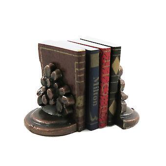 Dolls House Knihy & Bronzová kvetina Bookends Office Štúdia Knižnica Príslušenstvo