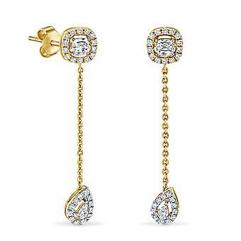Korvakorut Skylar 18K kulta ja timantit