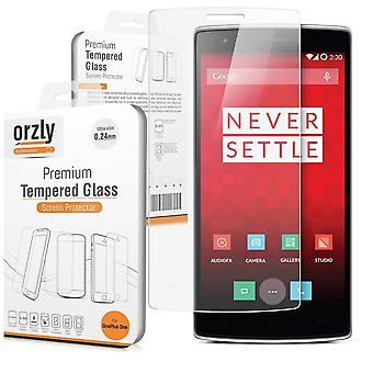Orzlyoneplus one premium protective screen film - 0.24mm tempered glass screen protector for one