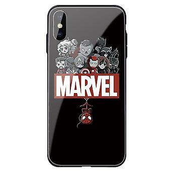 Die Avengers personalisierte stoßfeste gehärtete Glastasche für Apple iPhone 6