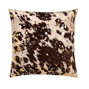 "Bucky Boy Decorative Square Pillow 18"" X 18"",  Brown/Gold"