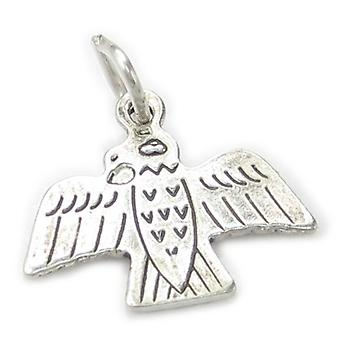 Thunderbird Small Sterling Silver Charm .925 X 1 Native American Charms - 483