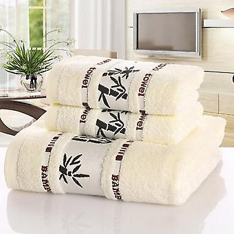 Bamboo Fiber Towels Set Home Bath For Adults Face Thick Absorbent Luxury