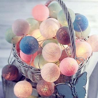 Cotton Ball Garland Lights