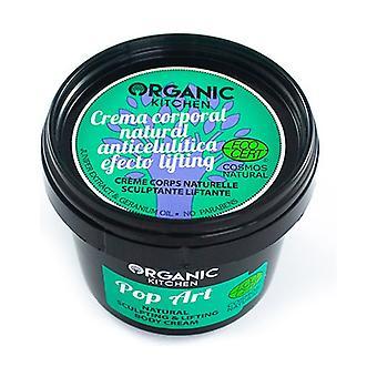 "Natural anti-cellulite body cream ""Pop art"" lifting effect 100 ml of cream"