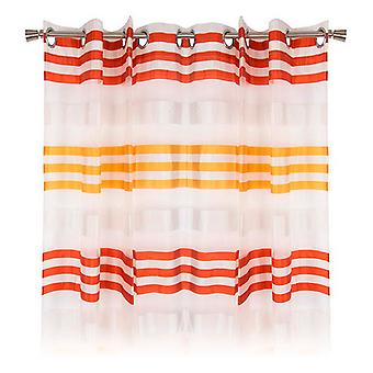 Cortina DKD Home Decor Striped Red Polyester (140 x 275 cm)