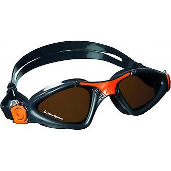 Aqua Sphere Kayenne Swim Goggle - Polarised Lenses - Grey/Orange