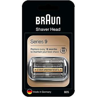 Braun Series 9 Electric Shaver Replacement Cassette Cartridge Foil, 92S, Silver - EU Blister
