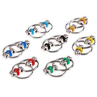 Metal Anti Stress Adult Fidget Key Ring  (light Grey)