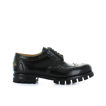 Barracuda Black Leather Derby Lace Up