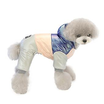 Cald câine haine curcubeu bumbac haina haine pentru animale de companie