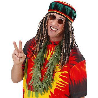 Kraagbladeren van volwassen cannabis