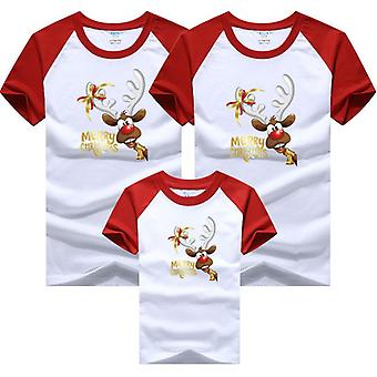 Kerstmis Familie Papa Mama Baby T-shirts