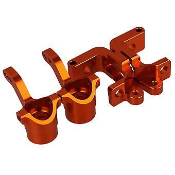 2PCS Arancione 1:10 Camion BMT0002 BMT0001 C-Hub+Steering Hub Carrier Upgrade Parts