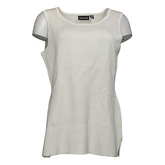 Nina Leonard Women's Top Sleeveless Sweater Knit Tunic Ivory 729841