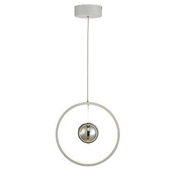 Circular Pendant Light Vertical White LED, 1x LED