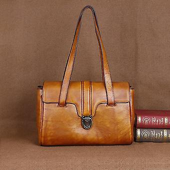 Leather Retro Brush Color Bag, Women's Fashion Bags