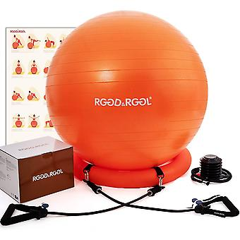Gerui Yoga Ball Chair, RGGDRGGL Exercise Ball with Leak-Proof Design, Stability Ring2 Adjustable