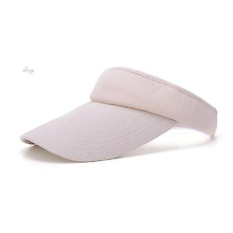 Female Summer Outdoor Sports Topless Tennis Cap, Sun Visor Empty Top Hat