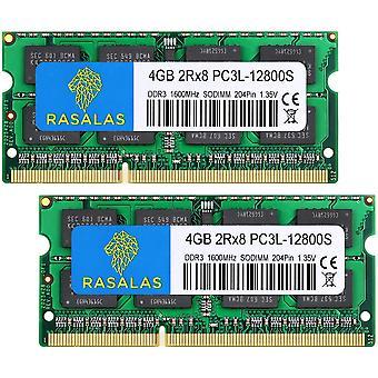 FengChun 8GB Kit (2x4GB) PC3-12800 DDR3L 1600MHz SODIMM, 4GB DDR3 1600 2Rx8 PC3L-12800S 1.35V