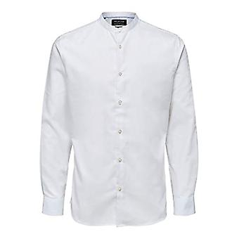 SELECTED HOMME SLHSLIMMARK Shirt LS B China Noos Shirt, White, L Man