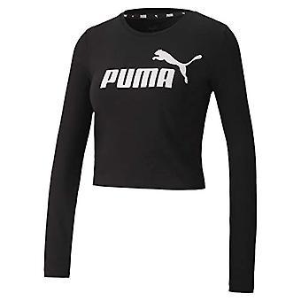 PUMA נשים חולצת טריקו Ess+ עם לוגו LS מצויד טי, אישה, חולצת טריקו, 583652, פומה נירו, L