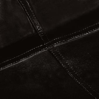 vidaXL motyl krzesło 4 szt. czarny rozmiar dziecięcy prawdziwa skóra