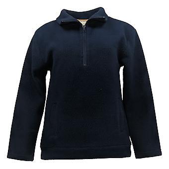 Koolaburra par UGG Women's Pullover poursuivi Sherpa 1/4 Zip Bleu A386507