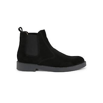 Duca di Morrone - Shoes - Ankle Boots - 100D-CAMOSCIO-NERO - Men - Schwartz - EU 44