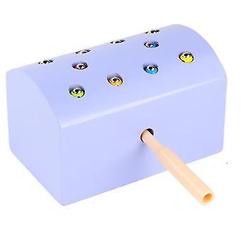 Violetti puinen magneettinen hyönteinen pyydystää leluja, vanhempien ja lasten interaktiivinen lelu, parannettu käsi-silmä koordinointi az1775